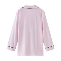 Autumn ladies cotton long-sleeved pajamas cardigan home tops single female upper body loose home service tops winter