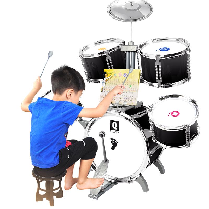 架子鼓3-6岁初学者乐器男孩女孩大号敲打鼓早教益智儿童玩具礼物