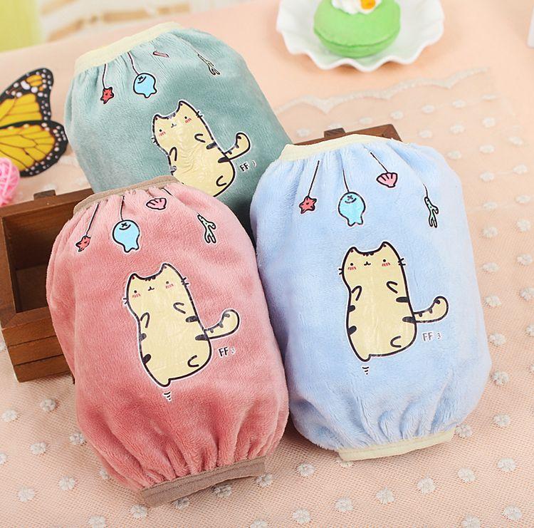 可爱卡通儿童婴幼儿春秋冬防污防脏护袖袖头袖套 宝宝绒布小袖套