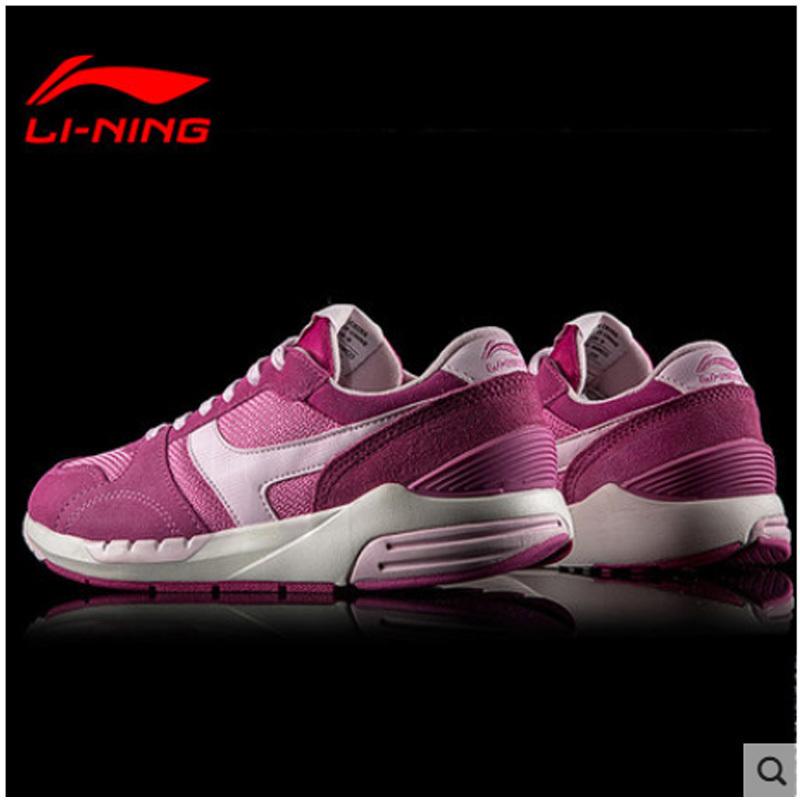 李宁女鞋慢跑鞋秋季新款女子复古板鞋休闲鞋运动旅游鞋透气健身鞋
