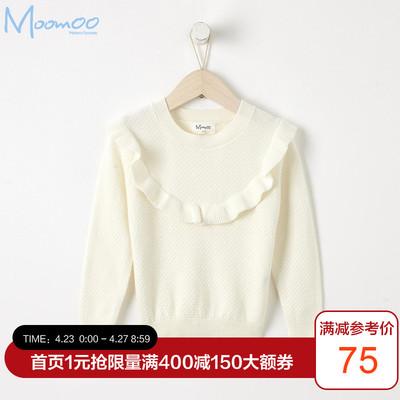 moomoo童装女童洋气毛衣新款秋装韩版中大童儿童毛衫