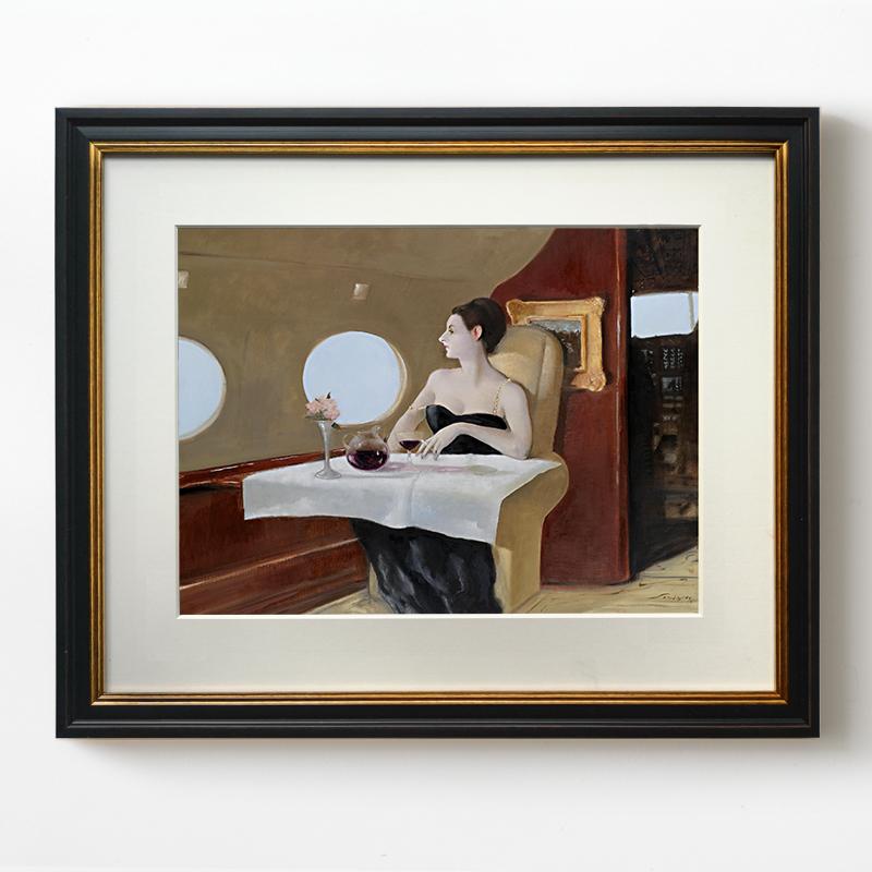 高档欧式小众复古油画 客厅餐厅玄关艺术装饰画美式轻奢壁画挂画