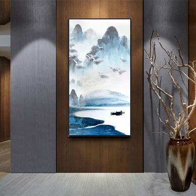 新中式大幅挂画图片