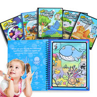 Clear water magic water canvas children's water to write graffiti magic water painting book baby book kindergarten coloring this coloring book