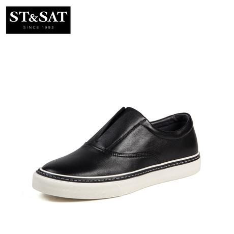 St&Sat/星期六秋季新商场同款牛皮平底休闲男鞋SS83126221商品大图