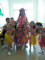 Hawaiian grass skirt costume children adult 40 60 80 cm game party picking pro dance performance full