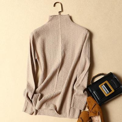 半高领毛衣女秋冬新款韩版女装上衣修身打底衫女长袖套头针织衫女