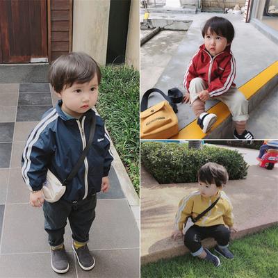 宝宝春秋外套2019新款童装男童女童运动风外套1-3岁儿童韩版上衣