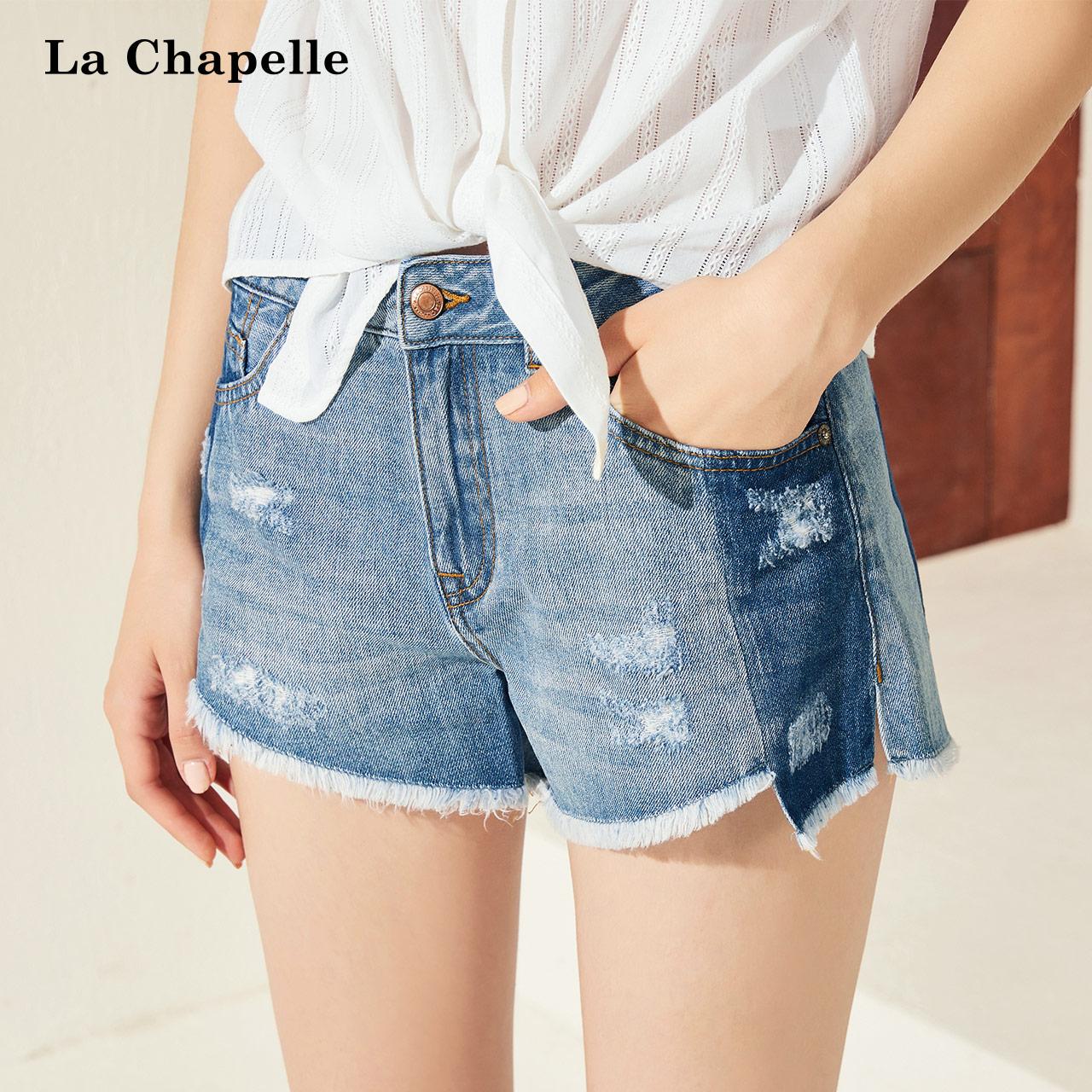 夏季纽扣牛仔裤