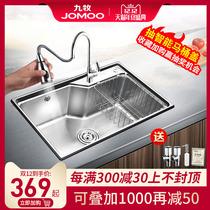 不锈钢手工水槽套餐洗菜盆茶水间吧台阳台单槽小水槽盆304阿萨斯