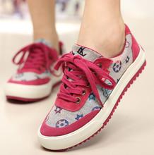 女式布单鞋 休闲绣花低帮浅口球鞋 潮流韩版 一步赢春秋流行帆布女鞋