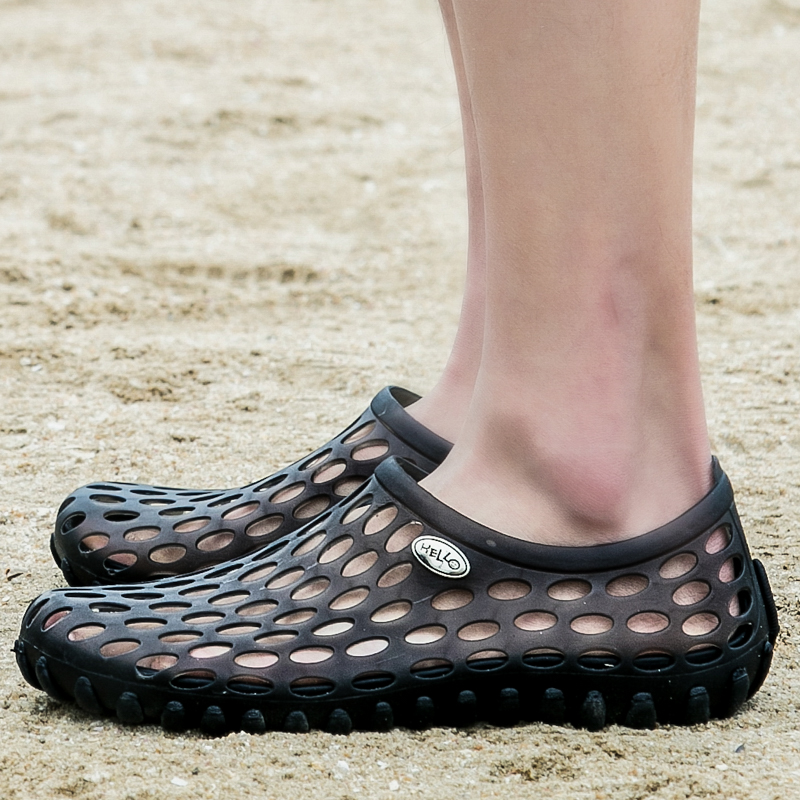 夏天涉水鸟巢洞洞拖鞋男韩版潮流个性凉拖男夏季防滑透气沙滩凉鞋