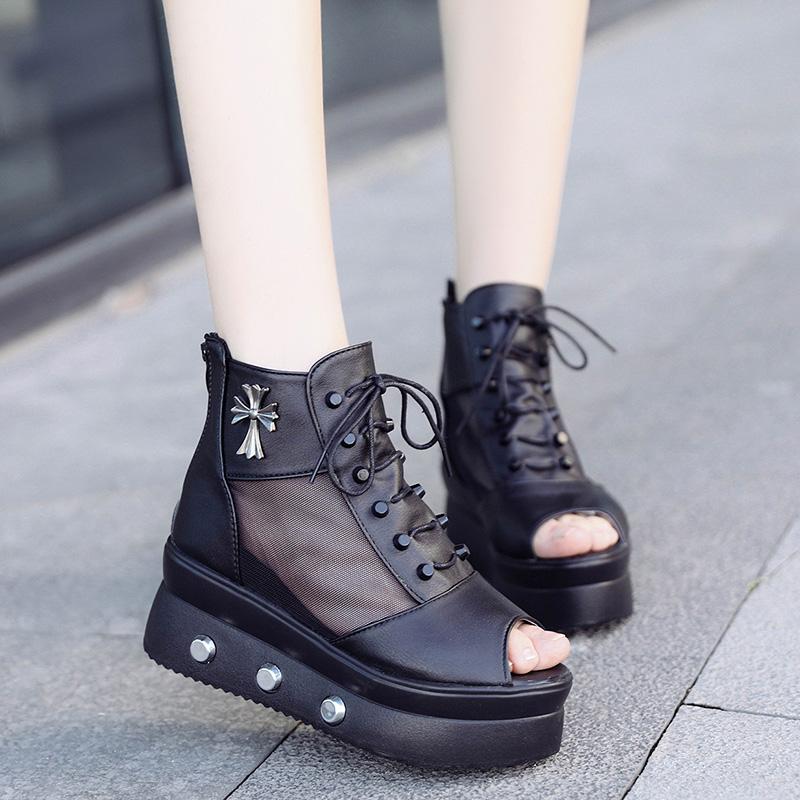 高帮潮凉鞋