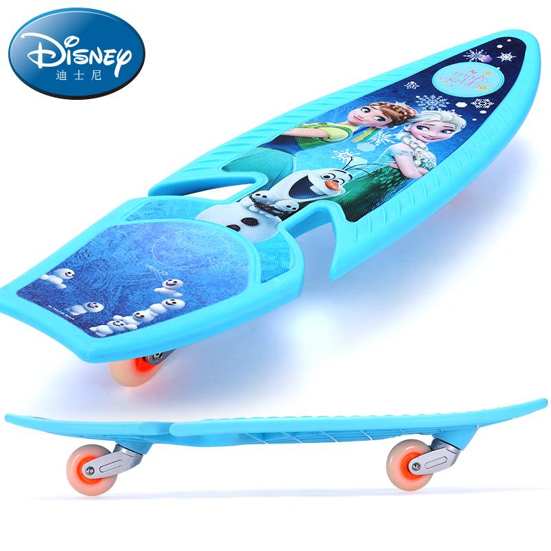 迪士尼儿童滑板四轮6-10岁8男女童青少年初学者小孩滑板车4两二轮