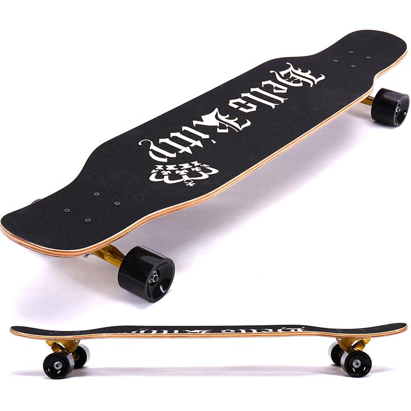 凯蒂猫长板公路4四轮滑板车青少年男女生初学者抖音滑板舞板成人2