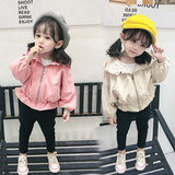 Girls windbreaker female baby jacket 2019 new spring and autumn clothing 1 Korean version of the children's clothing children's 3 years old child princess