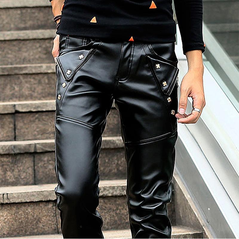 Кожаные брюки Артикул 597941334283