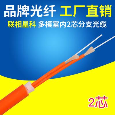 联相星科2芯多模分支光缆集束状无头可定制SC FC LC ST尾纤跳线