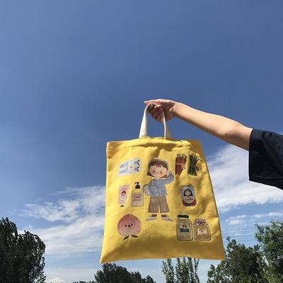 唐糖包袋xChara合作插画款帆布包 单肩手提书包 限量款
