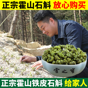 霍之宝 霍山铁皮石斛枫斗新鲜铁皮石斛米斛干条可磨粉礼盒仿 野生