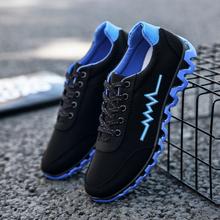 春季男士帆布鞋透气低帮平板鞋系带学生男鞋子韩版休闲运动鞋