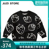 JUZI STORE children's sweater fruit topt top wear long-sleeved sleeve dwelling shirt neutral boy and girl 1832002