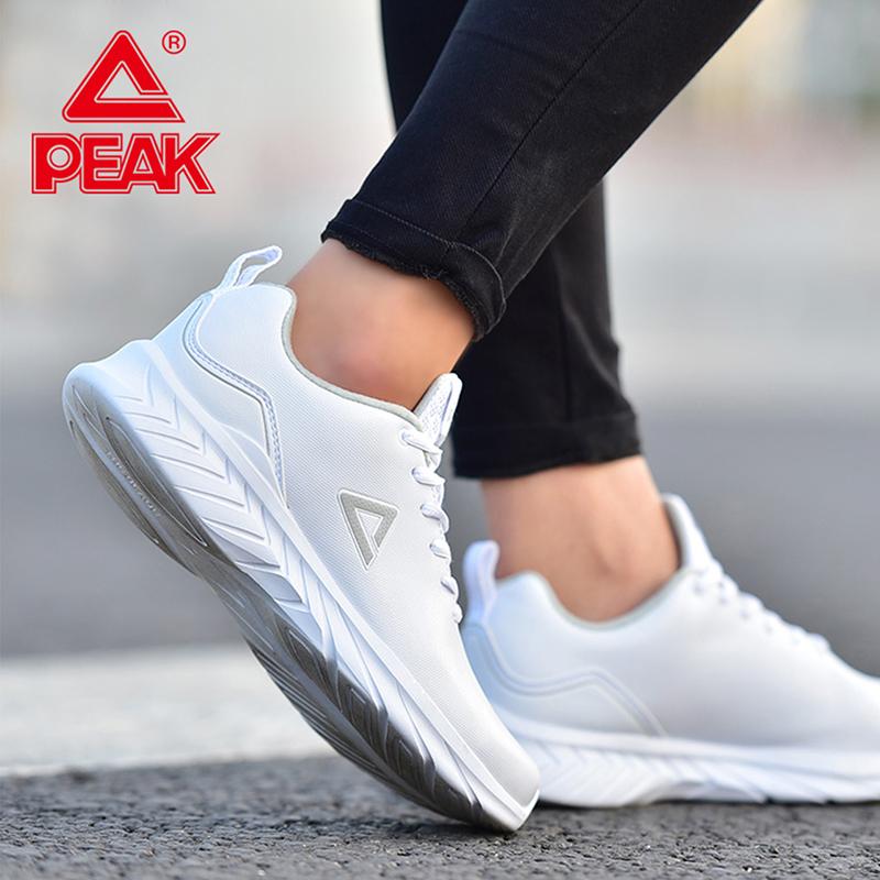 匹克运动鞋女鞋2018秋季新款皮面透气黑色跑鞋女士休闲跑步鞋子