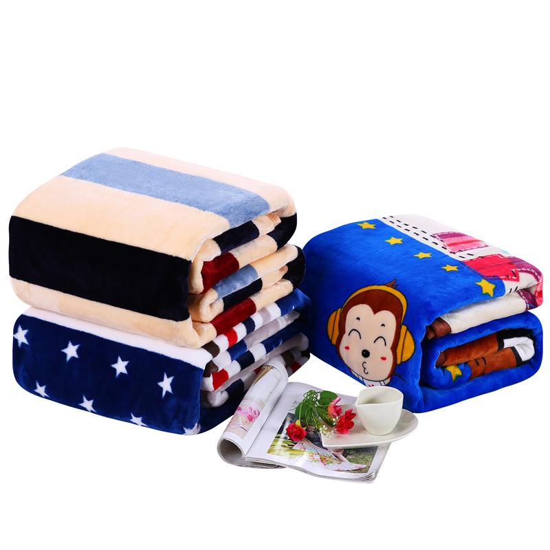 冬季珊瑚绒毯子法兰绒毛毯加厚床单1.8m单人办公室午睡毛巾小被子