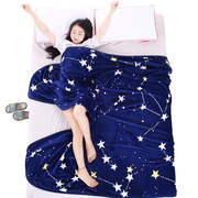 Coral blanket winter thick warm plush single piece plus velvet sheet people dormitory small quilt flannel blanket