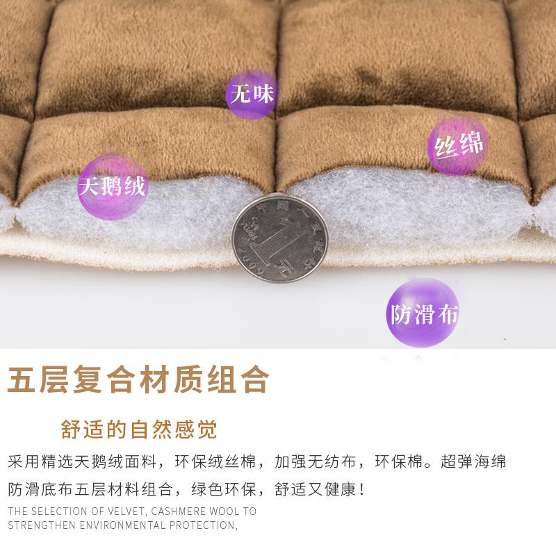 冬季无靠背汽车坐垫单片毛绒三件套免绑保暖座垫后排单座防滑通用