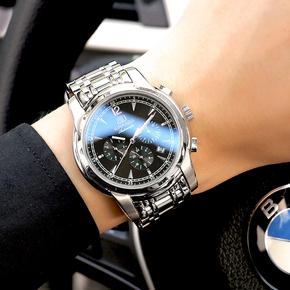 正品宾卡达手表男士全自动机械表镂空精钢时尚防水夜光学生男表