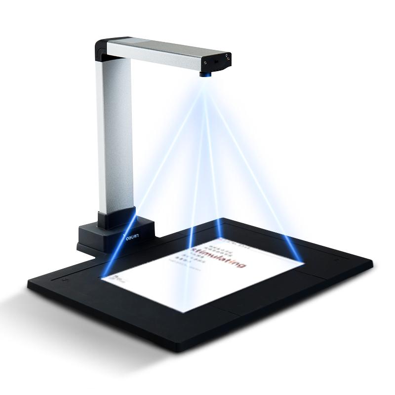 得力高拍仪1000万像素高清办公自动对焦带身份识别A4快速扫描仪