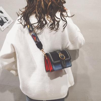 森系小包包女2018新款潮韩版百搭宽肩带斜挎包chic时尚上新ins包