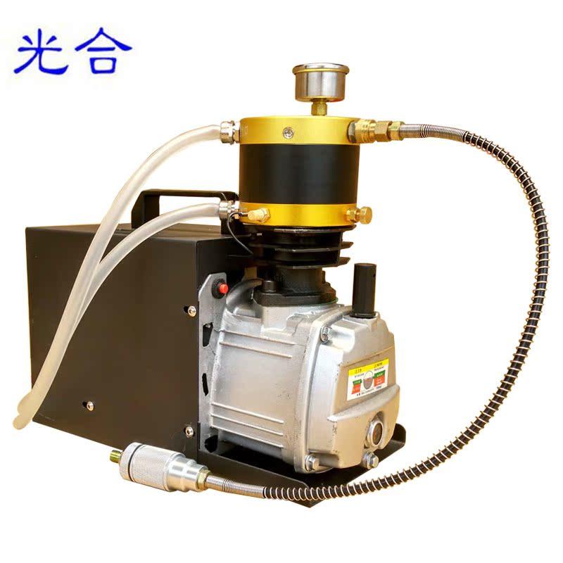 光合高压充气泵电动充气机单缸水冷便携式汽车轮胎充气泵30mpa