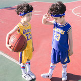James Lakers Children's Edition No. 23 Jersey Boys and Girls Basketball Suits Kids Primary School Boys