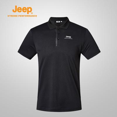 Jeep/吉普 18春夏季男士户外运动短袖速干衣速干T恤保罗Polo衫