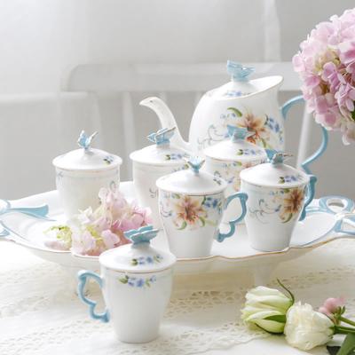 杯子套装家用水杯杯具客厅茶壶茶杯陶瓷凉水杯水具套装欧式水壶整
