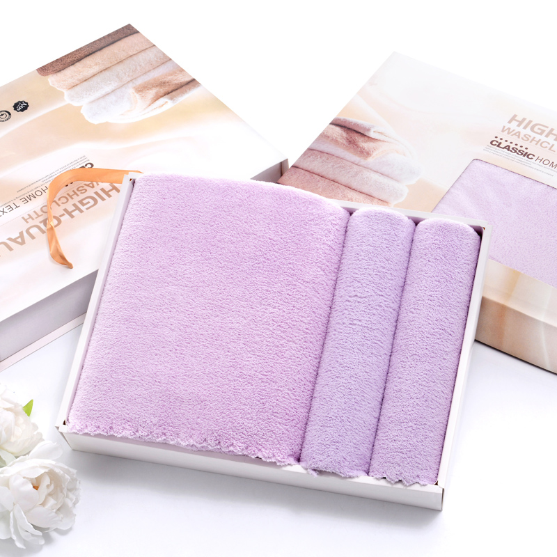 Japanese towel bath set three-piece gift box wholesale newborn baby child towel adult
