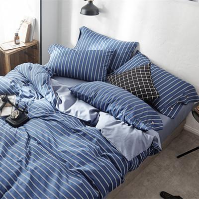 惠凯圣罗2018新款北欧简约四件套纯棉全棉床单双人1.8m 1.5米被套