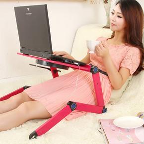 易力笔记本电脑桌床上用桌子带散热宿舍可折叠站立式办公懒人支架