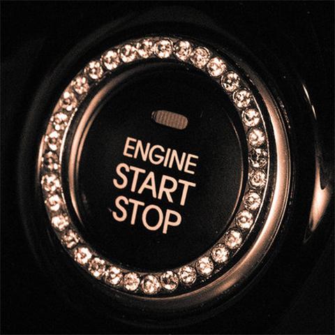 起亚K2奕跑KX1智跑K3一键启动装饰圈汽车改装专用内饰用品保护贴