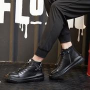 飞力步2017男鞋秋冬新款高帮板鞋加棉厚底潮鞋运动休闲鞋韩版男鞋