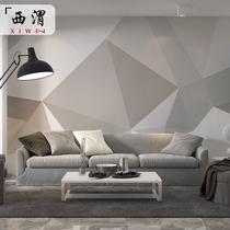 墙纸新中式手绘复古蓝孔雀壁画壁纸墙布3d现代简约沙发电视背景墙