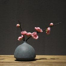Chinese-style hand-pulled embryo ceramics table, vase and flower appliances