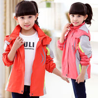 Children's Jackets 2019 children's clothing new girls spring hooded windbreaker jacket spring and autumn casual jacket shirt