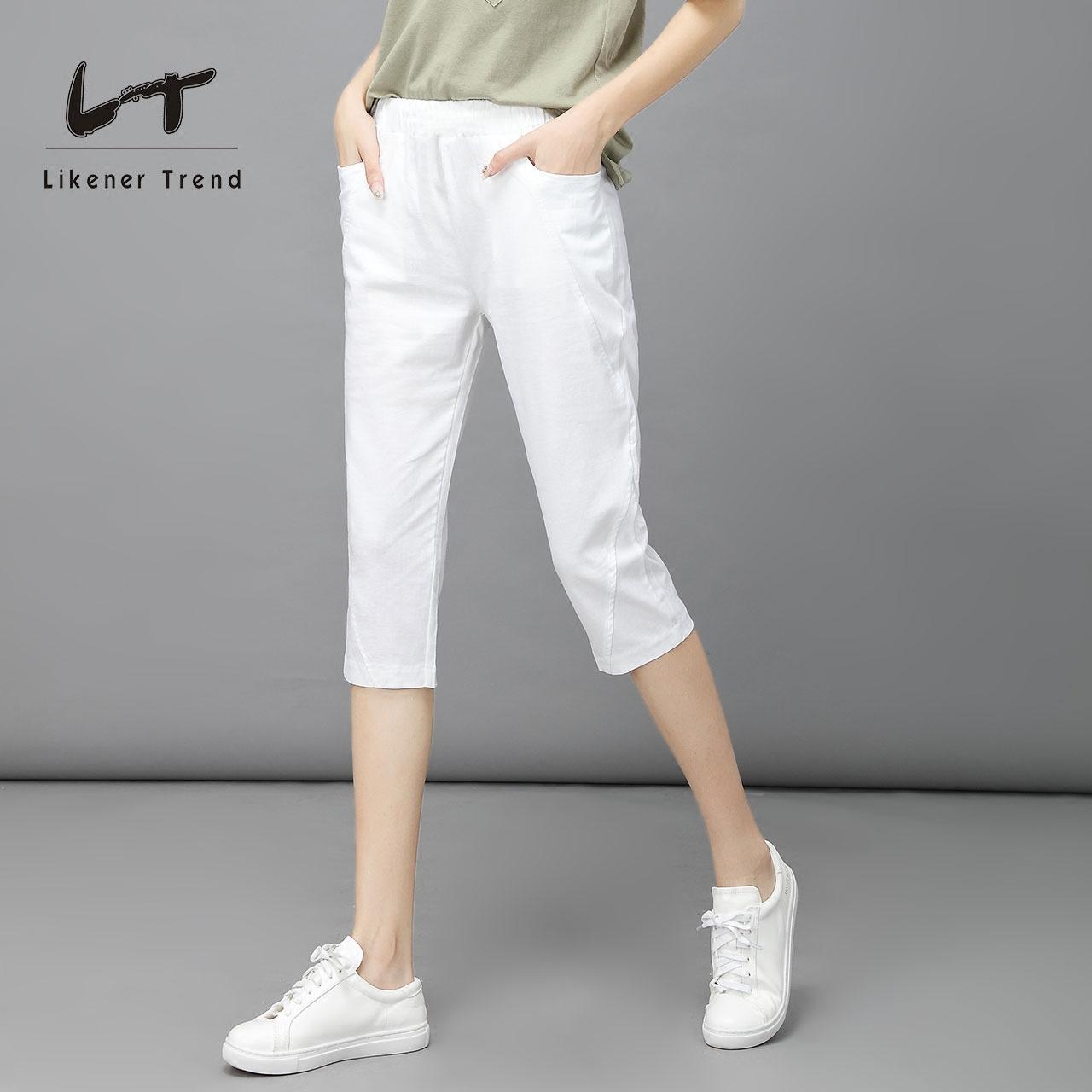 薄款棉麻中裤