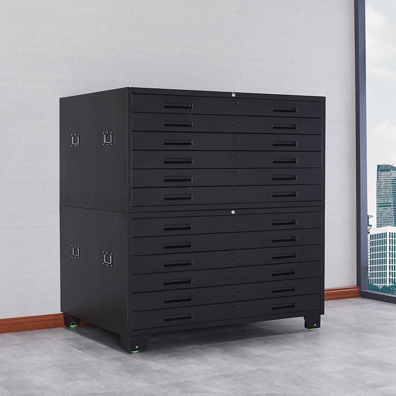 来福士底图柜钢制a1a0工程图纸柜菲林胶片柜资料文件柜办公柜带锁