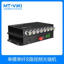 迈拓维矩8路视频光端机BNC转光纤同轴高清CVIAHD监控模拟收发器