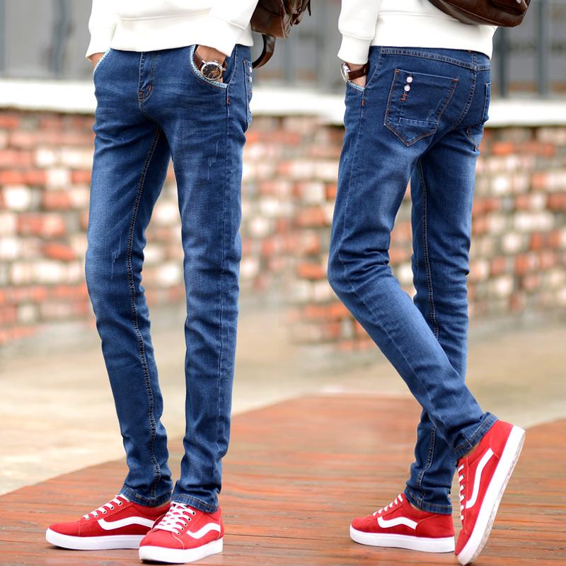 中学生牛仔小脚裤