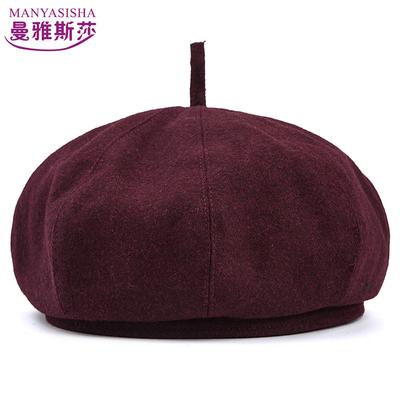 中老年人男士羊毛呢春秋冬季冬夏天八角帽贝雷帽爸爸爷爷画家帽子